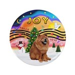 """XMusic2-Chow Chow 3.5"""" Button (100 pack)"""
