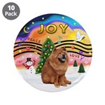 """XMusic2-Chow Chow 3.5"""" Button (10 pack)"""