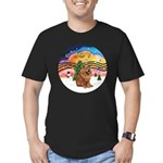XMusic2-Chow Chow Men's Fitted T-Shirt (dark)