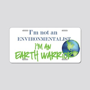 Earth Warrior Aluminum License Plate