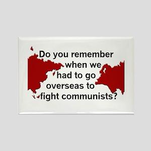 Oversea Communists? Rectangle Magnet