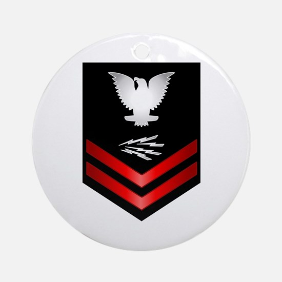 Navy PO2 Information Technician Ornament (Round)