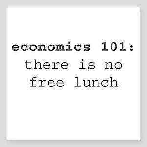 "Economics 101 Square Car Magnet 3"" x 3"""