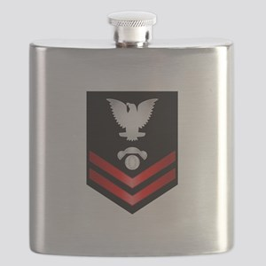 Navy PO2 Interior Comm Electrician Flask