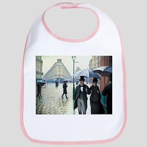Caillebotte Paris Street Rainy Day Bib