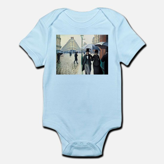 Caillebotte Paris Street Rainy Day Infant Bodysuit