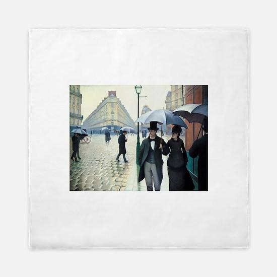 Caillebotte Paris Street Rainy Day Queen Duvet