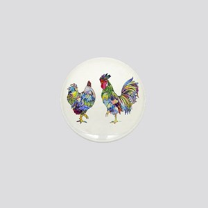 Rooster & Hen Mini Button