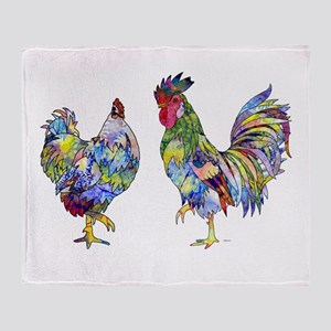 Rooster & Hen Throw Blanket