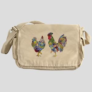 Rooster & Hen Messenger Bag