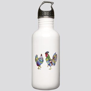 Rooster & Hen Stainless Water Bottle 1.0L