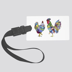 Rooster & Hen Large Luggage Tag