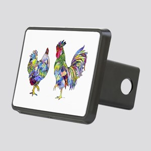 Rooster & Hen Rectangular Hitch Cover