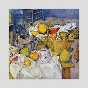 Paul Cezanne Fruit Basket Still Life Queen Duvet