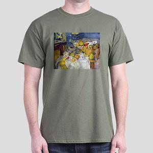 Paul Cezanne Fruit Basket Still Life Dark T-Shirt