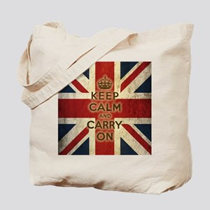 Vintage Keep Calm And Carry On Tote Bag