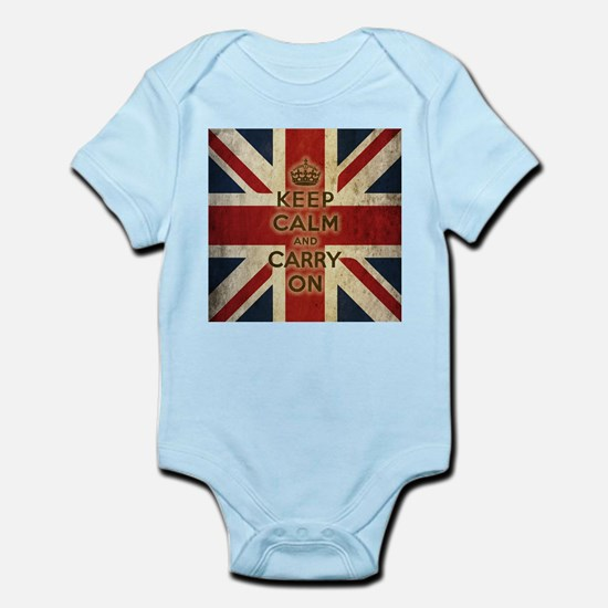 Vintage Keep Calm And Carry On Infant Bodysuit