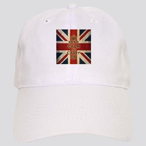Vintage Keep Calm And Carry On Cap