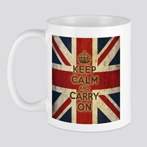 Vintage Keep Calm And Carry On Mug
