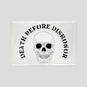 Skull - Death Before Dishonor 007 Rectangle Ma