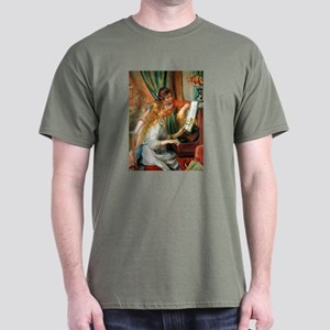 Renoir Girls At The Piano Dark T-Shirt
