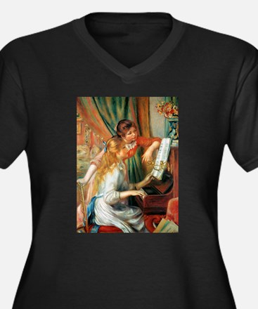 Renoir Girls At The Piano Women's Plus Size V-Neck