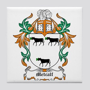 Metcalf Coat of Arms Tile Coaster