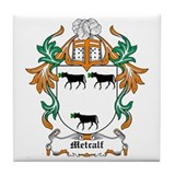 Family crest metcalf Coasters