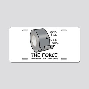 The Force Aluminum License Plate