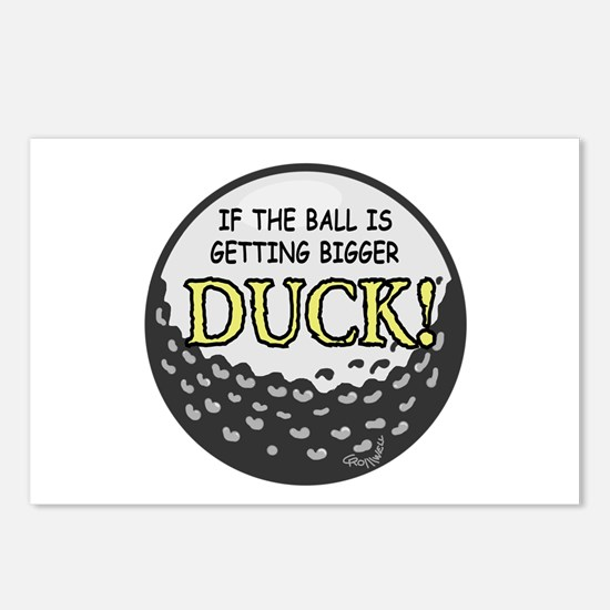 Golf Ball Postcards (Package of 8)