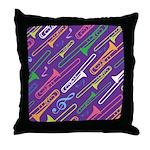 Trombone Band Gift Throw Pillow