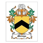 Mervyn Coat of Arms Small Poster