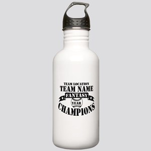 FBB CHAMPS BLK Stainless Water Bottle 1.0L