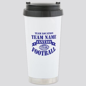 PERSONALIZED FANTASY FOOTBALL NAVY Stainless Steel