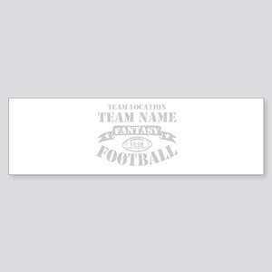 FANTASY FOOTBALL PERSONALIZED GREY Sticker (Bumper