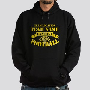 Fantasy Football Personalized Gold Hoodie (dark)