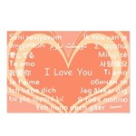 I love you around the world Postcards (Package of