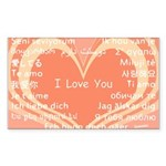 I love you around the world Sticker (Rectangle)