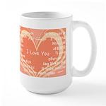 I love you around the world Large Mug