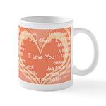 I love you around the world Mug