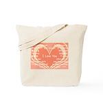 I love you around the world Tote Bag