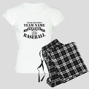 Personalized Fantasy Baseball Women's Light Pajama