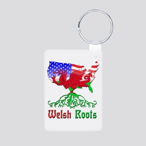 American Welsh Roots Aluminum Photo Keychain