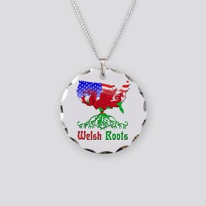 American Welsh Roots Necklace Circle Charm