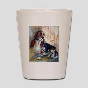 Vintage Basset Hound Shot Glass