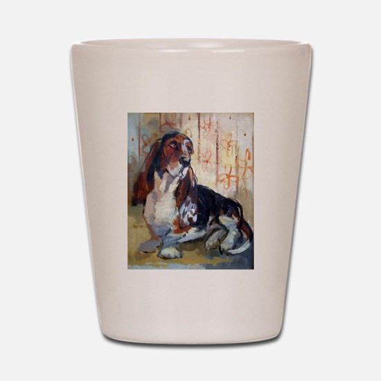 Vintage Basset Hound Shot Glass