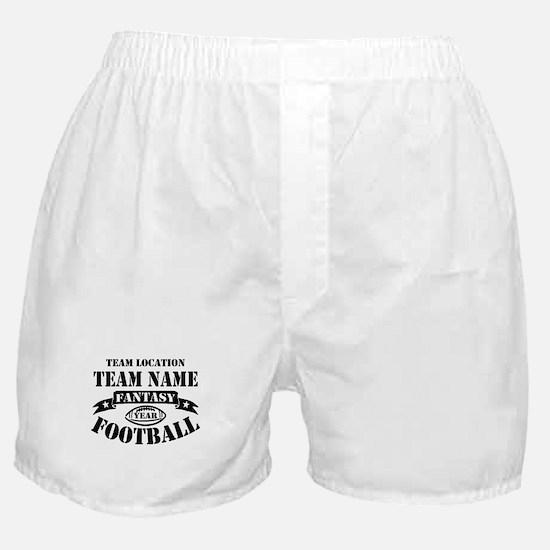 Your Team Fantasy Football Black Boxer Shorts