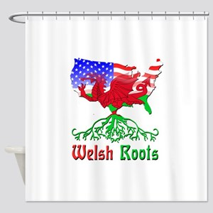 American Welsh Roots Shower Curtain