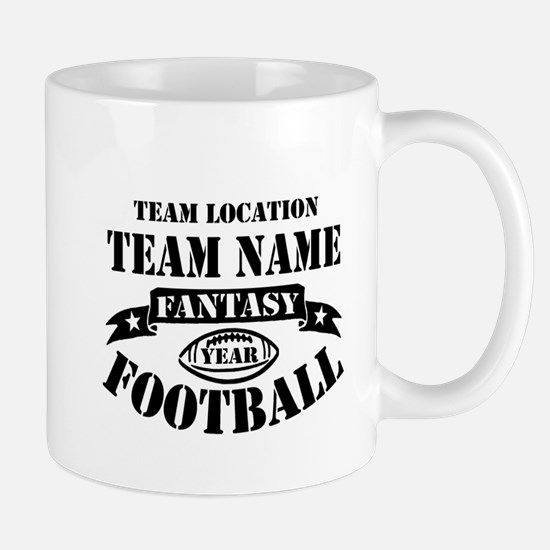 Your Team Fantasy Football Black Mug