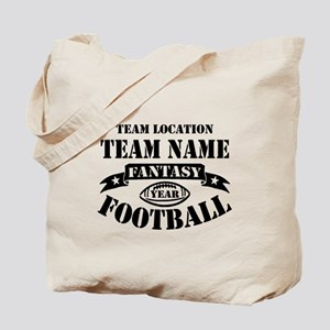 Your Team Fantasy Football Black Tote Bag